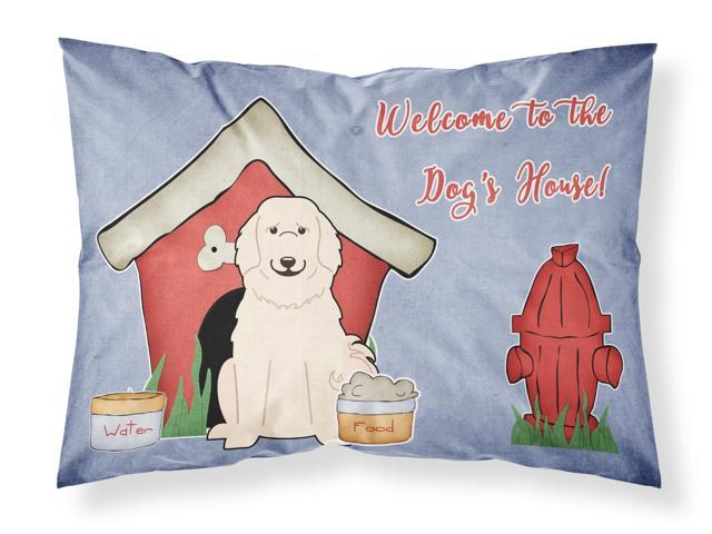 Dog House Collection Great Pyrenese Fabric Standard Pillowcase BB2837PILLOWCASE