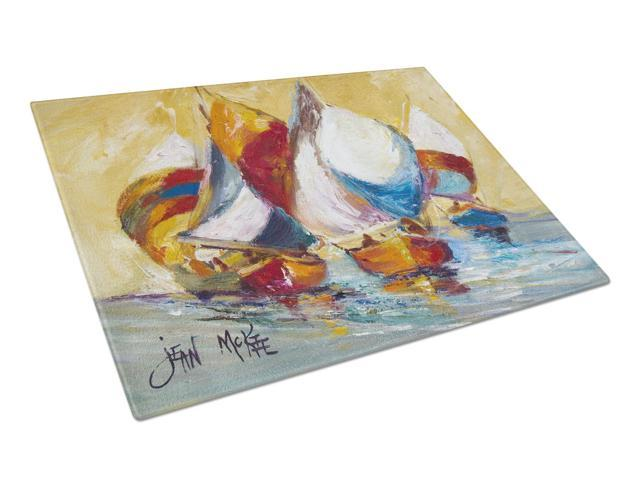 Boat Race Glass Cutting Board Large JMK1029LCB