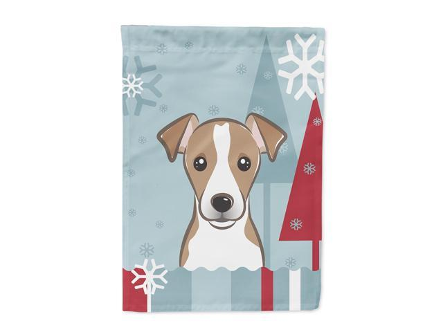 Carolines Treasures BB1756GF Winter Holiday Jack Russell Terrier Flag Garden Size