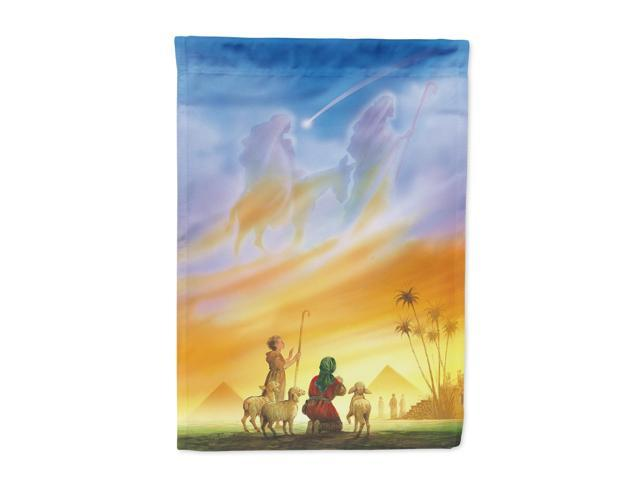 Shepherds being guided Christmas Flag Canvas House Size APH0939CHF