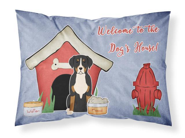 Dog House Collection Greater Swiss Mountain Dog Fabric Standard Pillowcase BB2791PILLOWCASE