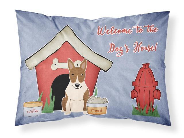 Dog House Collection Bull Terrier Brindle Fabric Standard Pillowcase BB2891PILLOWCASE