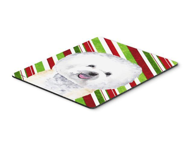 Bichon Frise Candy Cane Holiday Christmas Mouse Pad, Hot Pad or Trivet