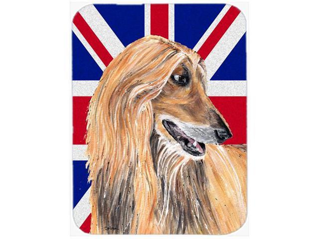 Afghan Hound with English Union Jack British Flag Mouse Pad, Hot Pad or Trivet SC9814MP