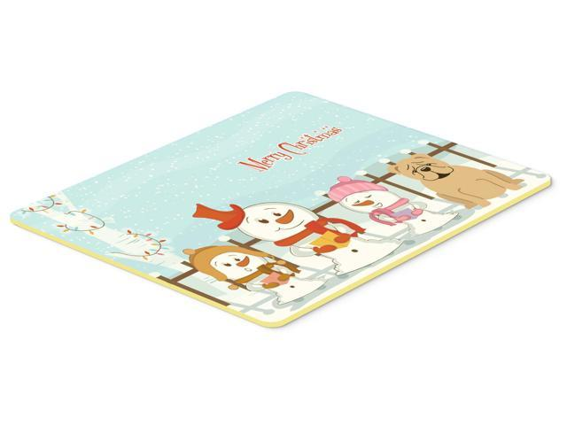 Merry Christmas Carolers English Bulldog Fawn Kitchen or Bath Mat 24x36 BB2455JCMT