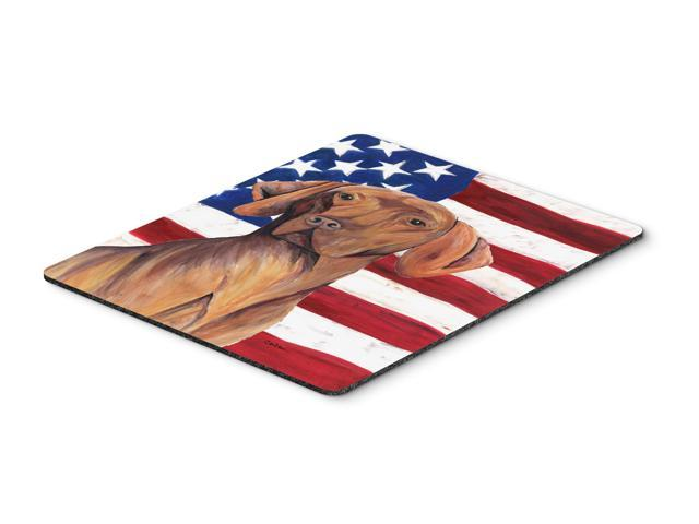 USA American Flag with Vizsla Mouse Pad, Hot Pad or Trivet