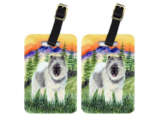 Pair of 2 Keeshond Luggage Tags