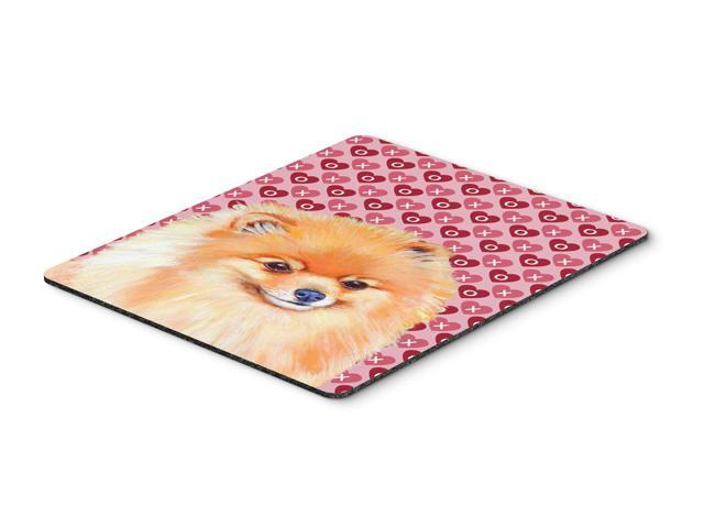 Pomeranian Hearts Love and Valentine's Day Mouse Pad, Hot Pad or Trivet