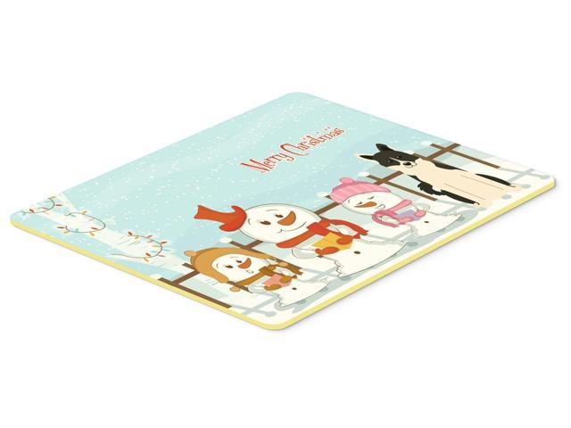 Merry Christmas Carolers Russo-European Laika Spitz Kitchen or Bath Mat 24x36 BB2360JCMT