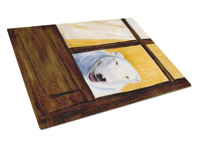 Bull Terrier Glass Cutting Board Large