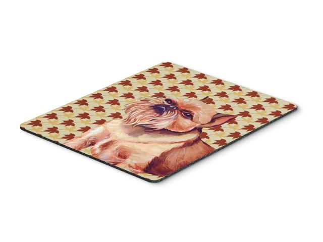 Brussels Griffon Fall Leaves Portrait Mouse Pad, Hot Pad or Trivet