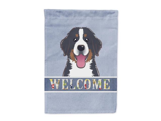 Carolines Treasures BB1423GF Bernese Mountain Dog Welcome Flag Garden Size