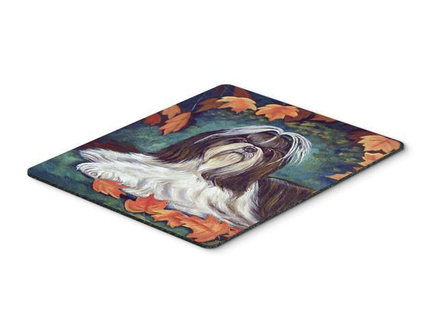 Autumn Leaves Shih Tzu Mouse Pad / Hot Pad / Trivet