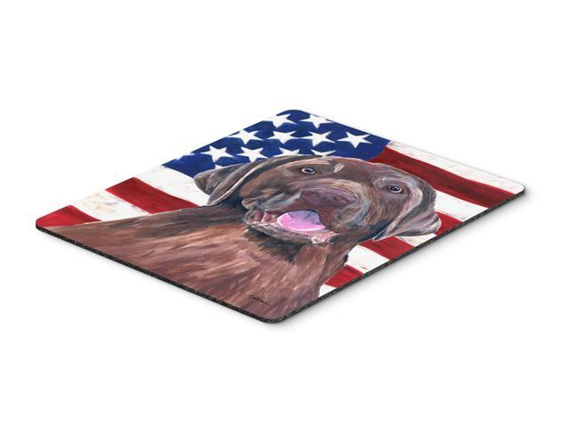 USA American Flag with Labrador Mouse Pad, Hot Pad or Trivet