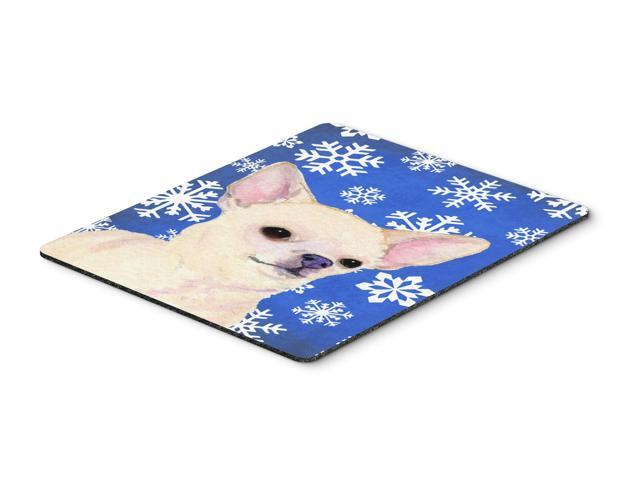 Chihuahua Winter Snowflakes Holiday Mouse Pad, Hot Pad or Trivet