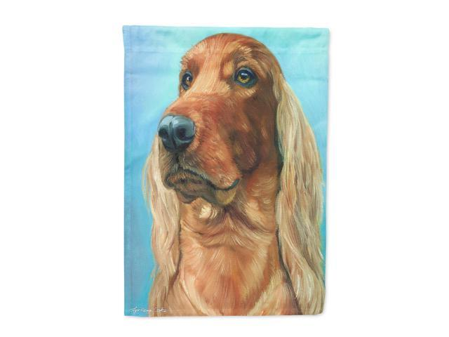 Irish Setter in Blue Flag Canvas House Size 7314CHF