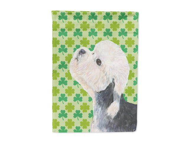 Dandie Dinmont Terrier St. Patrick's Day Shamrock  Flag Canvas House Size