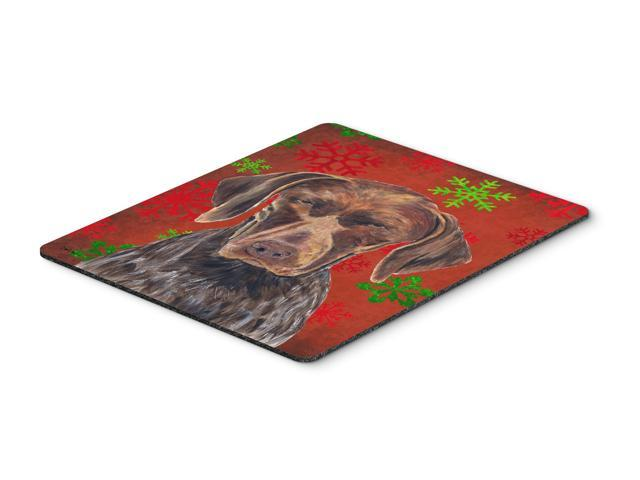German Shorthaired Pointer Snowflakes Christmas Mouse Pad, Hot Pad Trivet