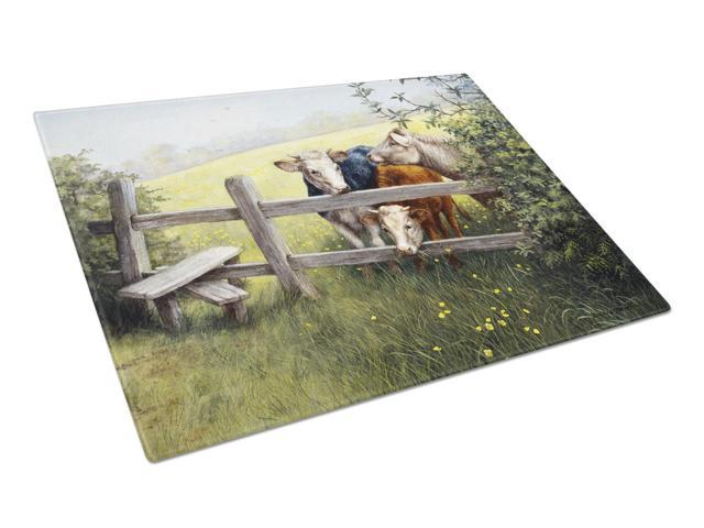 Cows in a Buttercup Meadow Glass Cutting Board Large BDBA0103LCB