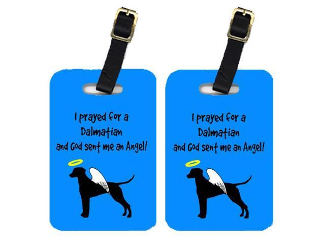 Pair of 2 Dalmatian Luggage Tags