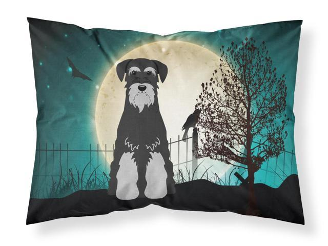Halloween Scary Standard Schnauzer Black Grey Fabric Standard Pillowcase BB2224PILLOWCASE