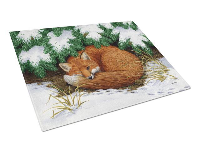 Naptime Fox Glass Cutting Board Large ASA2185LCB