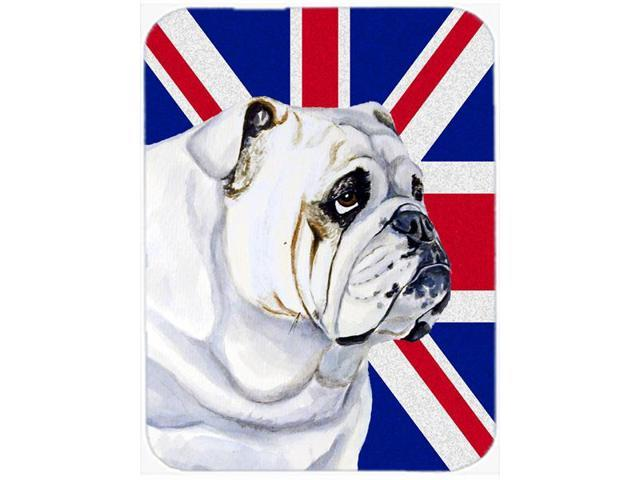 English Bulldog with English Union Jack British Flag Mouse Pad, Hot Pad or Trivet LH9471MP