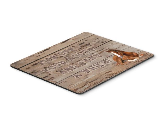 Kick off your boots and stay a while Mouse Pad, Hot Pad or Trivet SB3064MP
