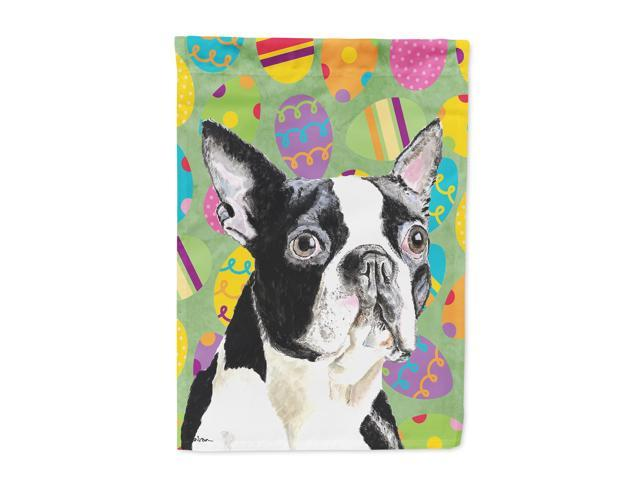Boston Terrier Easter Eggtravaganza Flag Canvas House Size
