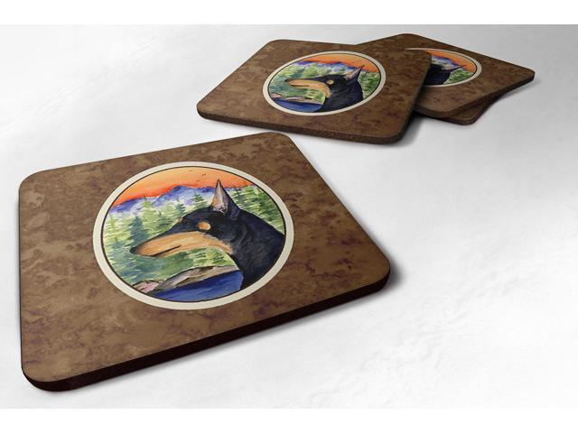 Set of 4 Manchester Terrier Foam Coasters