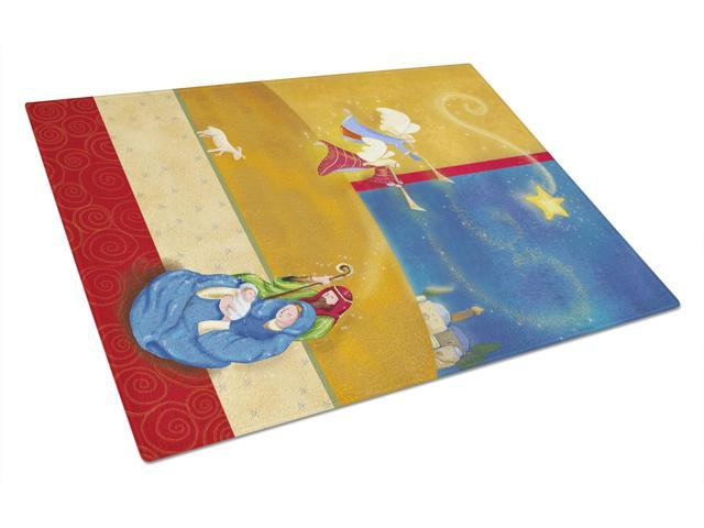 Contemporary Nativity Christmas Glass Cutting Board Large APH5626LCB