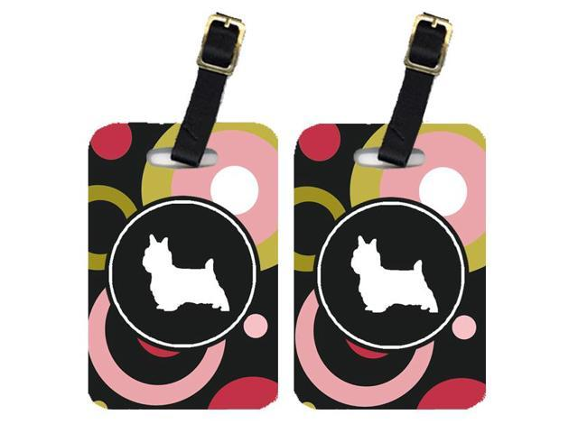 Pair of 2 Silky Terrier Luggage Tags