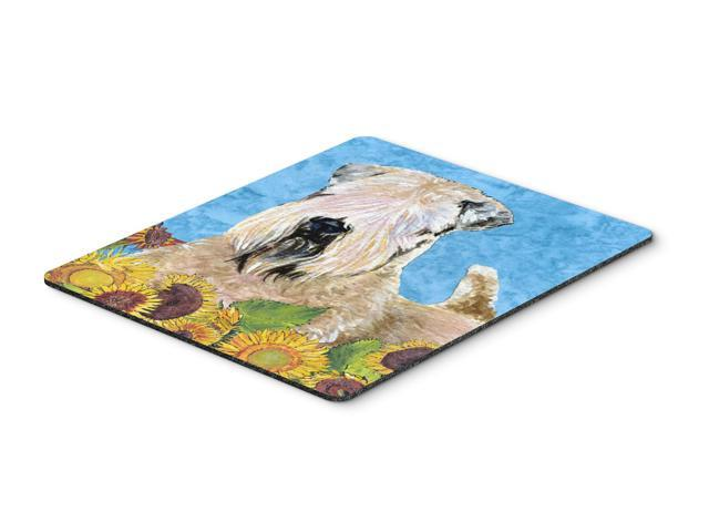 Wheaten Terrier Soft Coated Mouse Pad, Hot Pad or Trivet