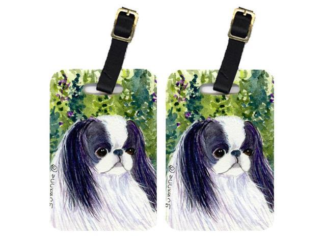 Pair of 2 Japanese Chin Luggage Tags
