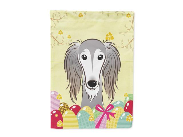 Saluki Easter Egg Hunt Flag Canvas House Size BB1911CHF