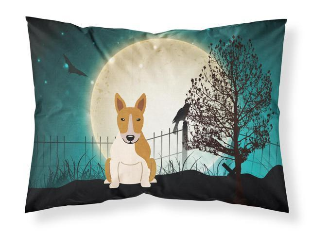 Halloween Scary Bull Terrier Red White Fabric Standard Pillowcase BB2325PILLOWCASE