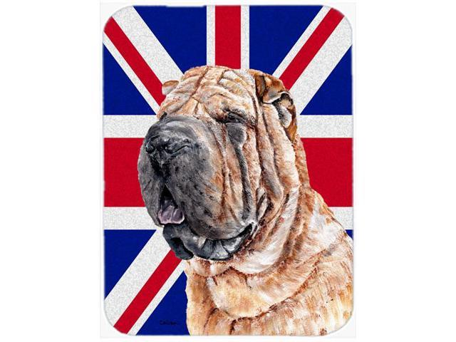 Shar Pei with English Union Jack British Flag Mouse Pad, Hot Pad or Trivet SC9892MP