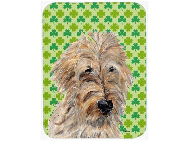 Golden Doodle 2 Lucky Shamrock St. Patrick's Day Mouse Pad, Hot Pad or Trivet SC9739MP
