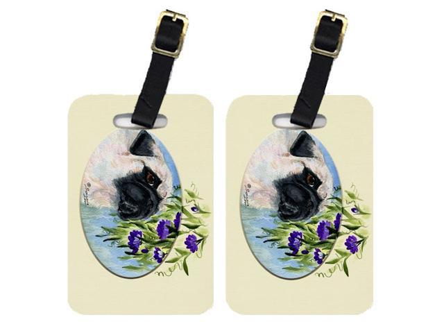 Pair of 2 Pug Luggage Tags