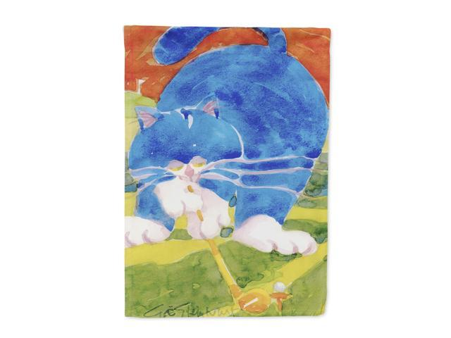 Blue Cat Golpher  Flag Canvas House Size