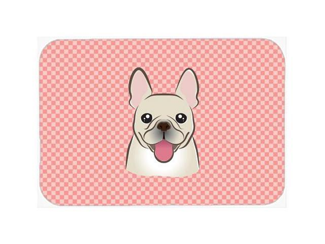 Checkerboard Pink French Bulldog Mouse Pad, Hot Pad or Trivet BB1238MP