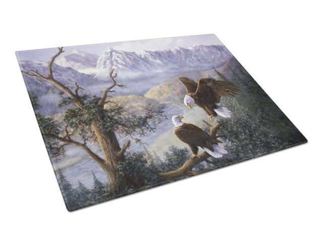 Eagles by Daphne Baxter Glass Cutting Board Large BDBA0153LCB