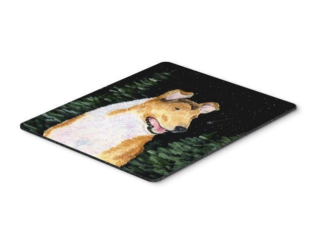 Starry Night Collie Smooth Mouse Pad / Hot Pad / Trivet