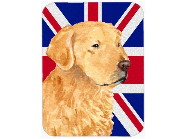Golden Retriever with English Union Jack British Flag Mouse Pad, Hot Pad or Trivet SS4918MP