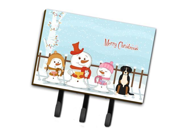 Merry Christmas Carolers Greater Swiss Mountain Dog Leash or Key Holder BB2368TH68