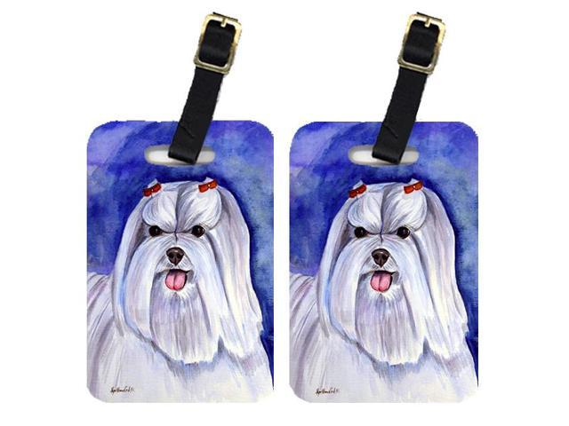 Pair of 2 Maltese Luggage Tags
