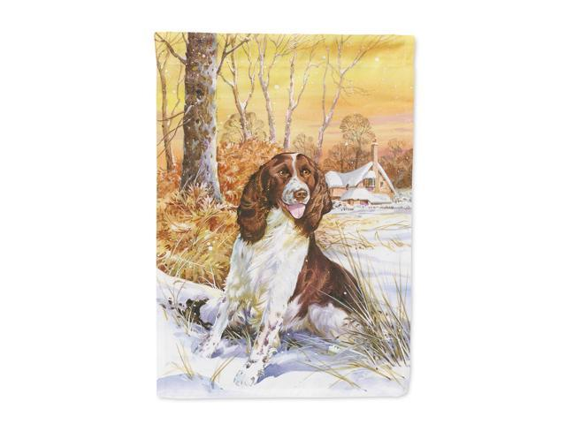 Springer Spaniel by Don Squires Flag Garden Size SDSQ0388GF