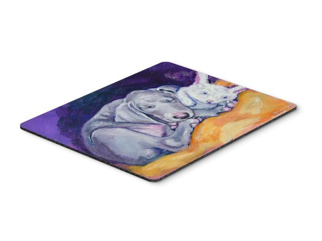 Weimaraner Snuggle Bunny Mouse Pad, Hot Pad or Trivet 7354MP