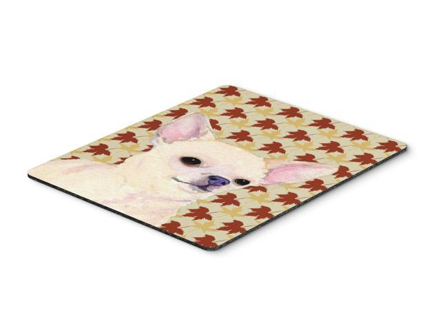 Chihuahua Fall Leaves Portrait Mouse Pad, Hot Pad or Trivet