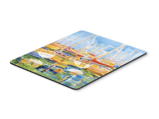 Boats at Harbour Pier  Mouse Pad, Hot Pad or Trivet